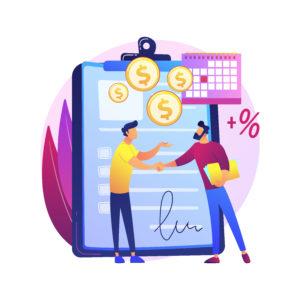 Doanh nghiệp trích doanh thu thực tế và chi trả đến khi hết nợ